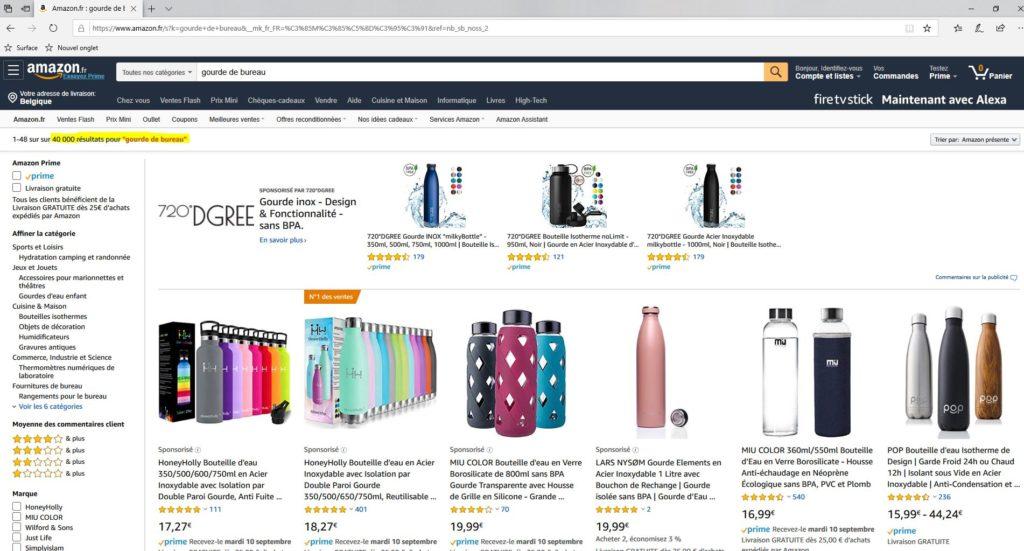 Amazon recense plus de 40 000 gourdes de bureau